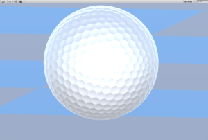 Getting the ball rolling with a dimpled golf ball!