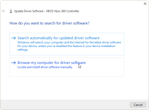 Browse My Computer for the Driver