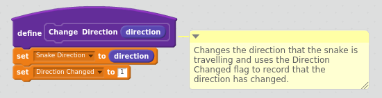 Change Direction Function
